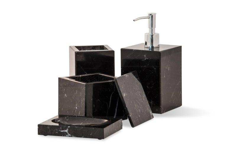 Squared Soap Dispenser In Black Marble For Sale At 1stdibs