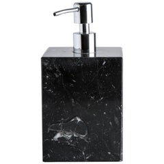 Squared Soap Dispenser in Black Marble