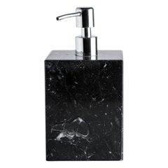 Squared Soap Dispenser in Black Marble