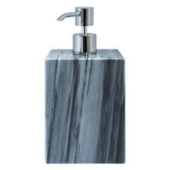 Squared Soap Dispenser in Grey Marble