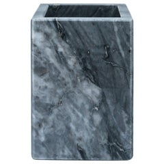 Squared Toothbrush Holder in Grey Marble