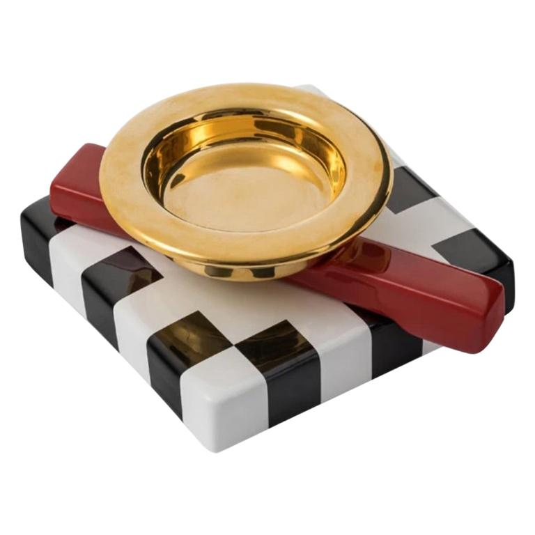 Squash Gold Ashtray, by Maria Sanchez from Memphis Milano For Sale