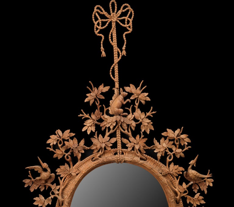 George III Squirrel Mirror in the manner of Thomas Johnson  For Sale
