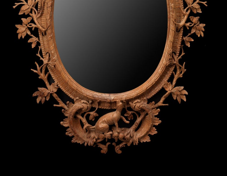 English Squirrel Mirror in the manner of Thomas Johnson  For Sale