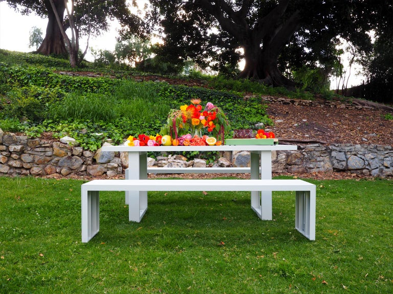 Contemporary Picnic Table / Dining Set - Aluminum  For Sale 1