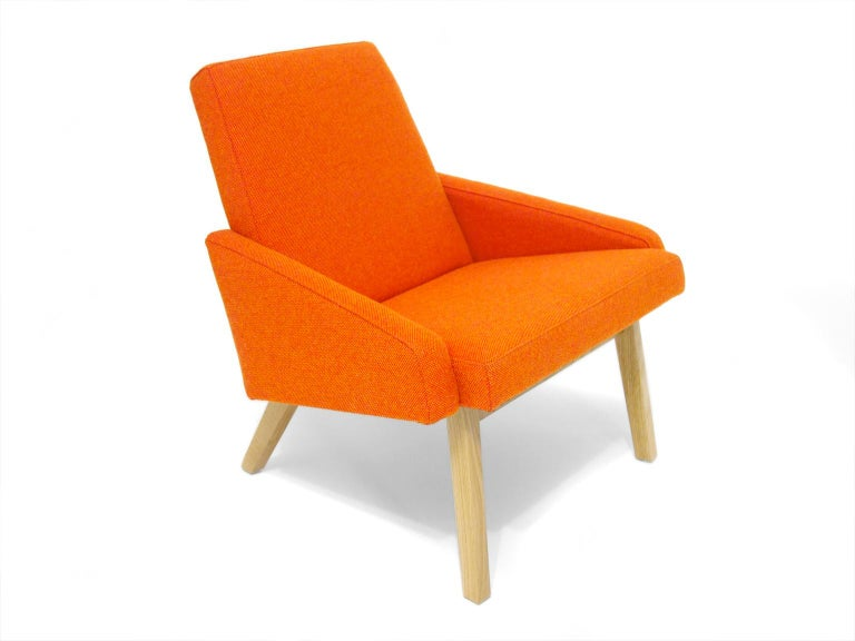 Lounge Chair with White Oak Frame For Sale 1