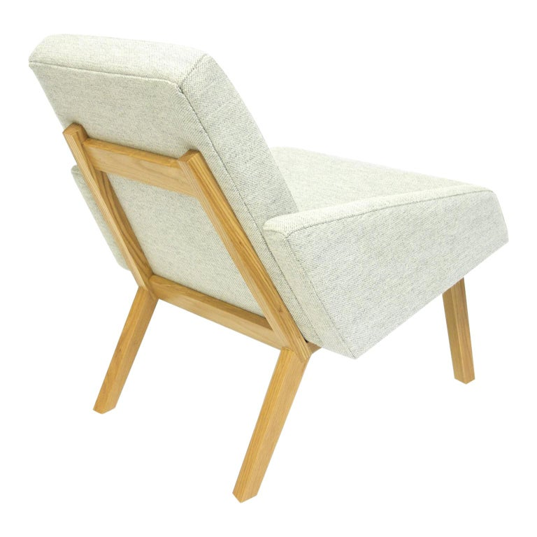 Lounge Chair with White Oak Frame For Sale