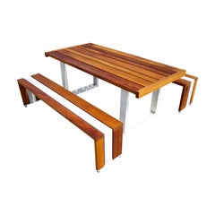 Contemporary Picnic Table / Dining Set - African Teak