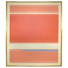 Søren Edsberg, Danish Born American Painter, Oil on Canvas, Abstract Composition