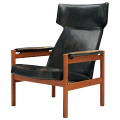 Søren Hansen Wingback Chair in Original Leather
