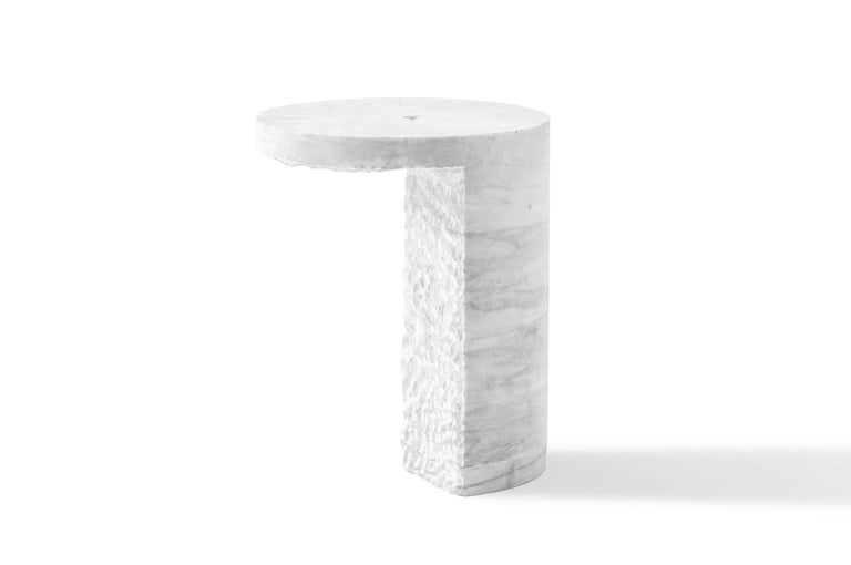 The altar side table is part of the Sacred Ritual Objects is the first collection by EWE Studio. S.R.O. was created out of fascination by the evolving skill of the artisans and their successful execution of exquisite objects, designed to ignite a