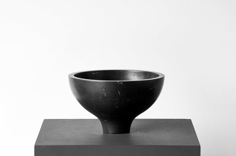 S.R.O. Rito Black Marble Vessel #3 ( Large ) by EWE Studio For Sale 1