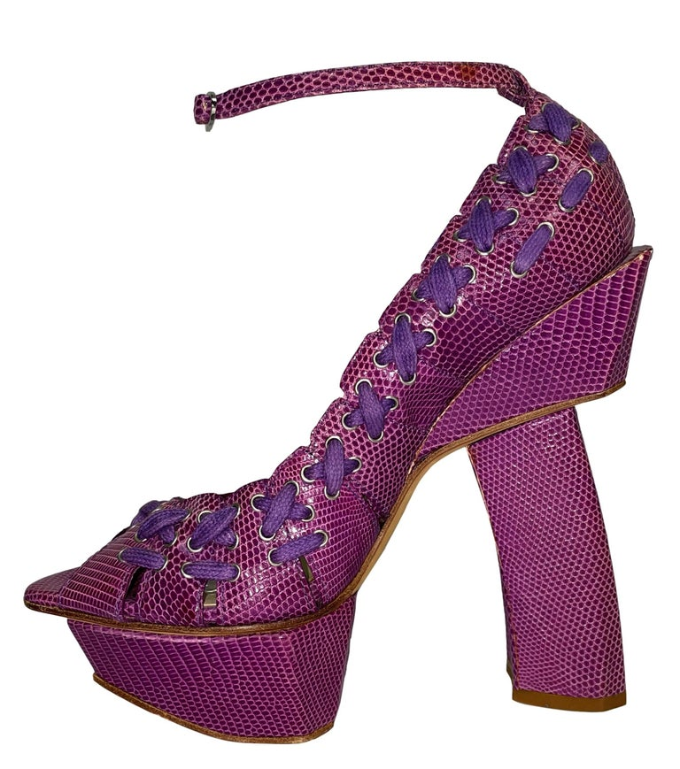 SS 2007 Christian Dior John Galliano Haute Couture Runway Samurai Japanese Heels For Sale