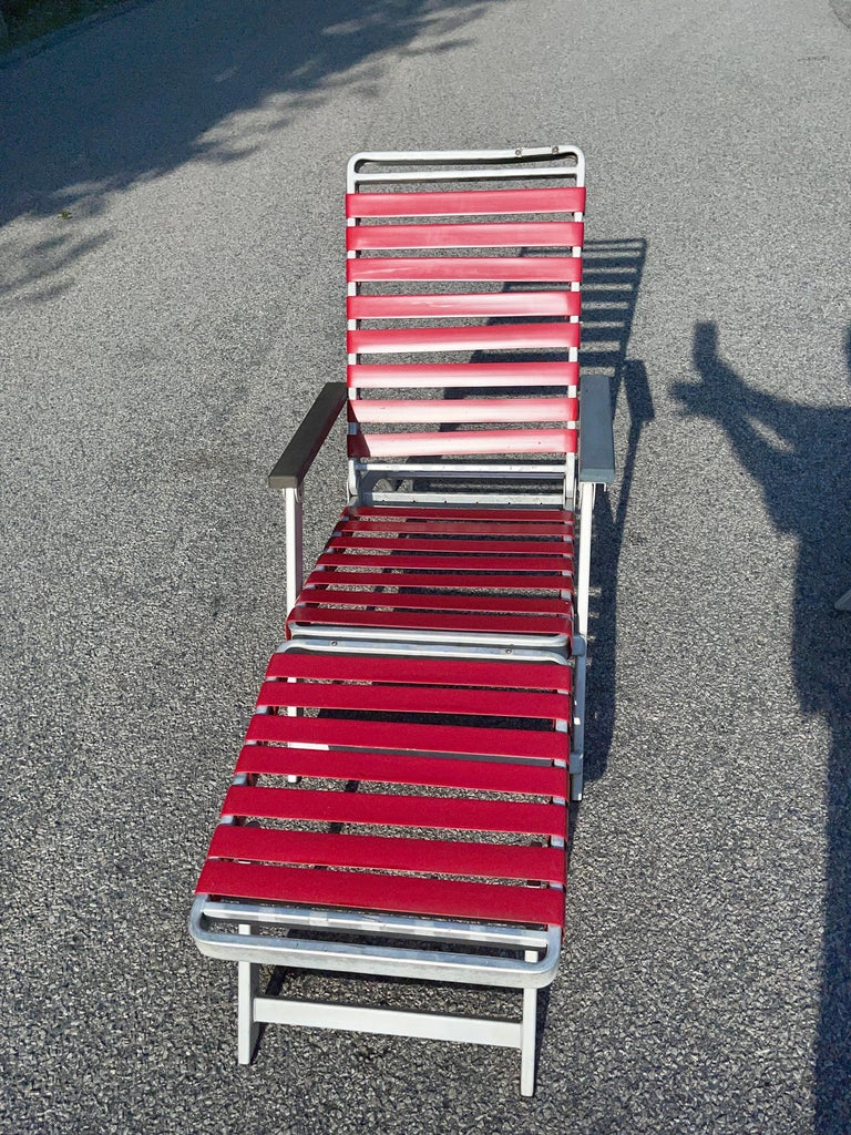 SS United States Pair of Folding Deck Chairs by Troy Sunshade Co. For Sale 3