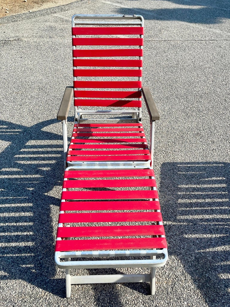 SS United States Pair of Folding Deck Chairs by Troy Sunshade Co. For Sale 2