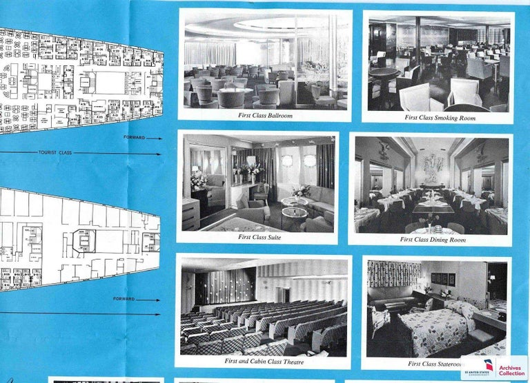 SS United States Sign Notice and Information for Passengers For Sale 10