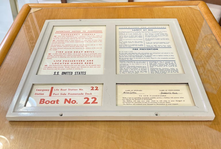 Aluminum SS United States Sign Notice and Information for Passengers For Sale