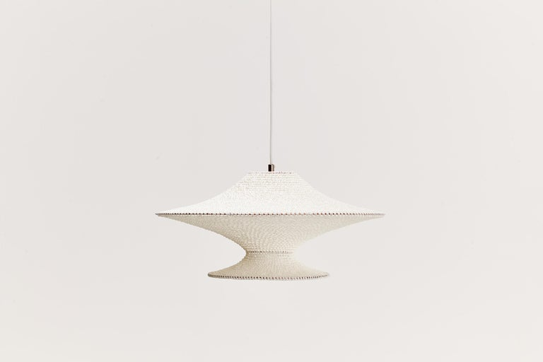 Contemporary SS01, 03 & 04 Ø50cm / 19.6in.  Pendant Cluster, Hand Crocheted Egyptian Cotton For Sale