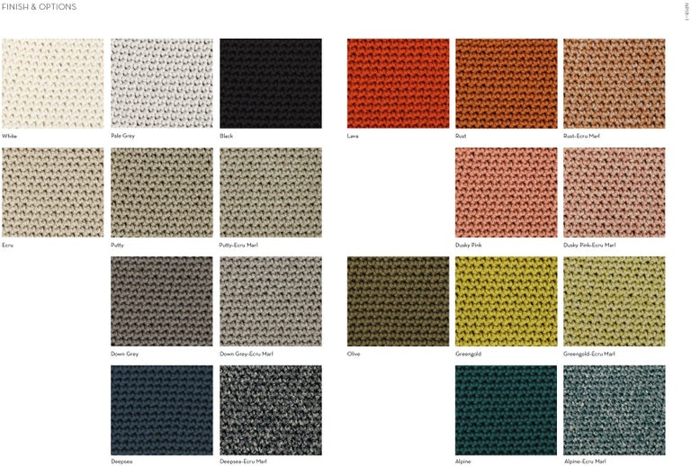 British SS01 Ø50 Pendant Light, Hand Crocheted in 100% Mercerized Egyptian Cotton For Sale