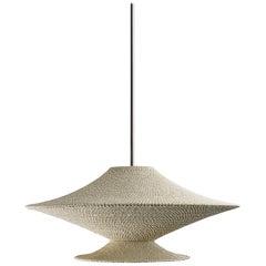 SS04 Ø80 Pendant Light, Hand Crocheted in 100% Mercerized Egyptian Cotton