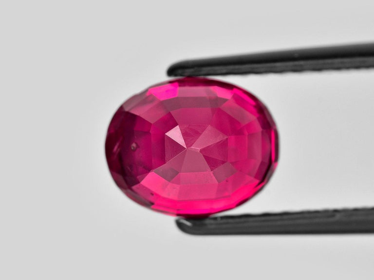 Oval Cut SSEFF Mogok Burma Myanmar 4 Carat Oval Fiery Red Ruby For Sale