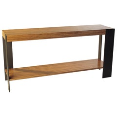 ST-33S Console with Shelf and Metal Legs by Antoine Proulx