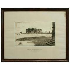 St Andrews Golf Club, Bicentenary Etching, Ltd Edition 10/75