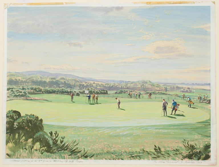 St Andrews Golf Painting by Arthur Weaver, Watercolor Painting For Sale 5