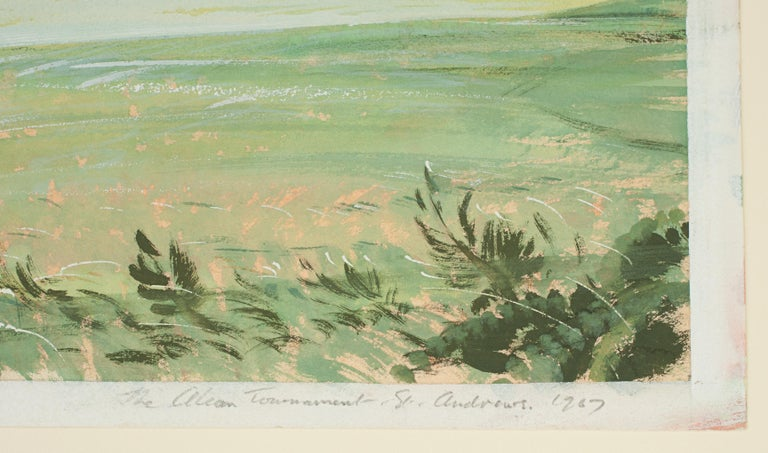 St Andrews Golf Painting by Arthur Weaver, Watercolor Painting For Sale 7