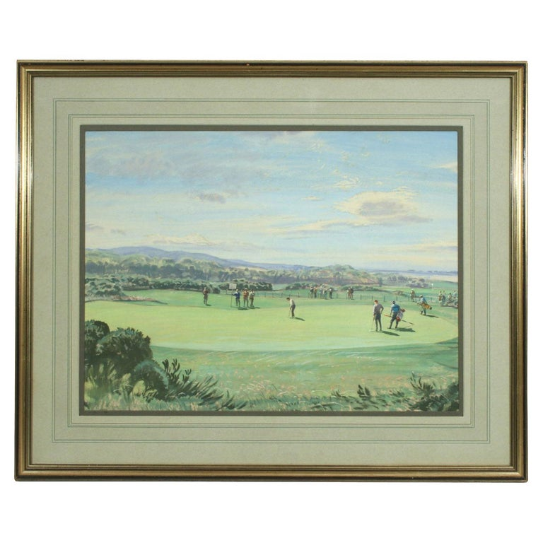 St Andrews Golf Painting by Arthur Weaver, Watercolor Painting For Sale