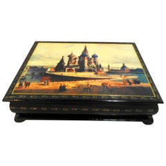 St. Basil's Cathedral on Russian Lacquer Box