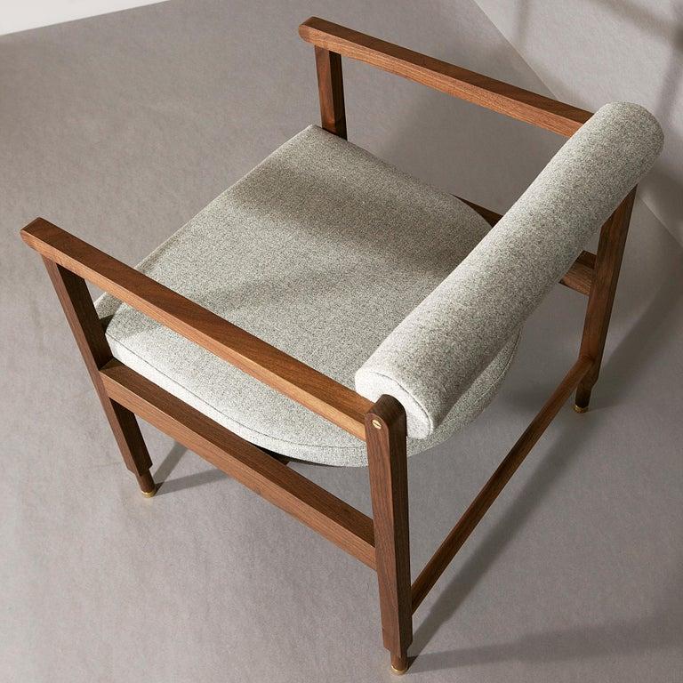 Mid-Century Modern St. Charles Armchair in Walnut by VOLK For Sale