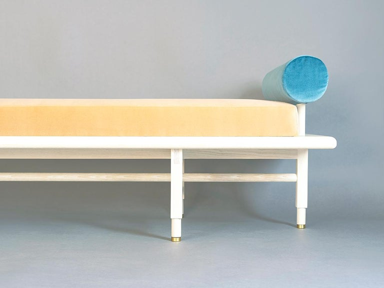 Modern St. Charles Double Bolster Daybed by Volk For Sale