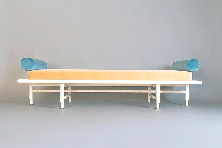 Turned St. Charles Double Bolster Daybed by Volk For Sale