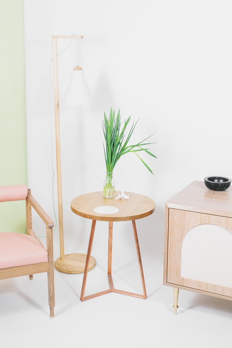 St. Charles Side Table by Volk In New Condition For Sale In Brooklyn, NY