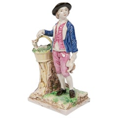 St. Clément Figure of a Young Man Going to Market France, circa 1775