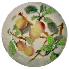 St. Clement French Faïence Apricot Fruit Plate, circa 1900