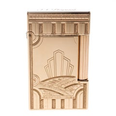 Art Deco ST Dupont Ligne 2 Texturiertes Rose Gold Finish Limited Edition Feuerzeug