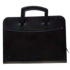 ST Dupont Black Leather Document Holder Line D Slim Briefcase
