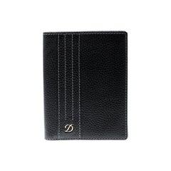 S.T. Dupont Black Leather Line D Passport Holder