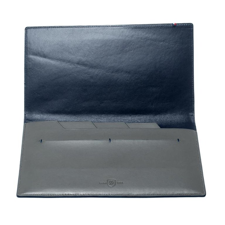 S.T. Dupont Grey Leather Plat Slim Organizer For Sale 2