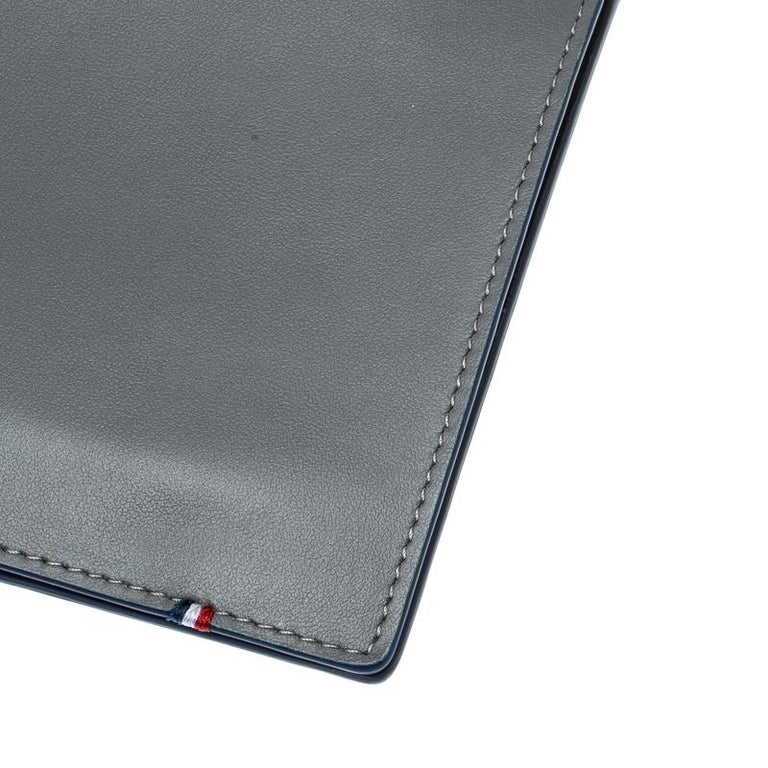 S.T. Dupont Grey Leather Plat Slim Organizer For Sale 3