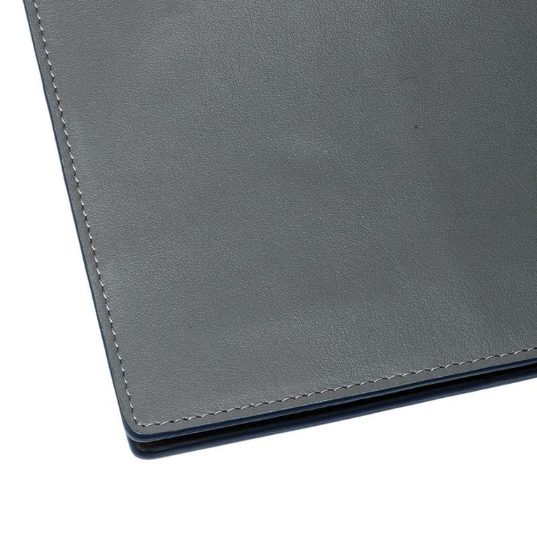 S.T. Dupont Grey Leather Plat Slim Organizer For Sale 4
