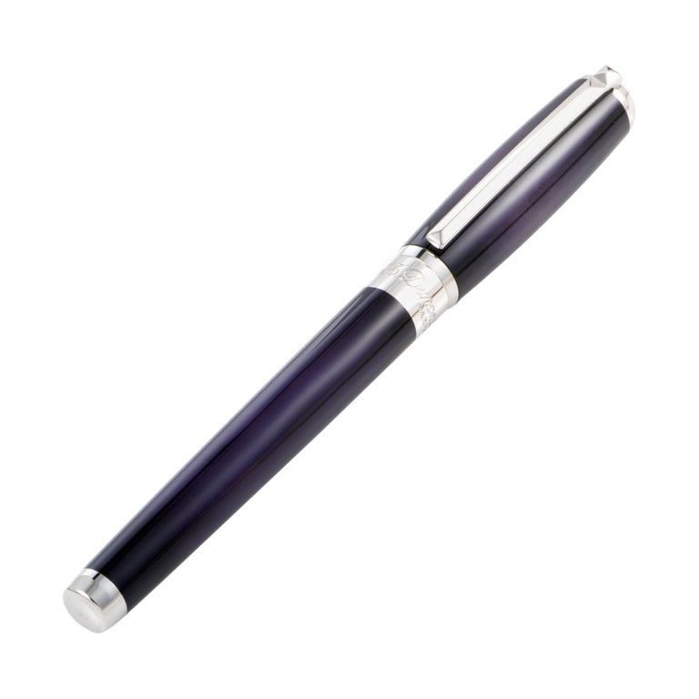 S.T. Dupont Line D Rollerball Pen in Atelier Eggplant For Sale