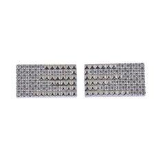 ST Dupont Rain 18k Gold Diamond Cufflinks