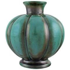 St. Erik, Uppsala. Art Deco Vase in Glazed Ceramics, 1920s