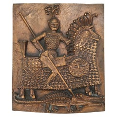 St George Copper Relief by Otto Kopcsanyi, 1970s