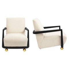 St. Germain Linen Club Chair