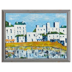 St Ives, Cornwall, English Oil Painting, 20th Century, Framed, Bright Colors