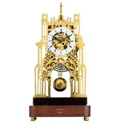 St. James Palace Skeleton Clock by Evans of Handsworth